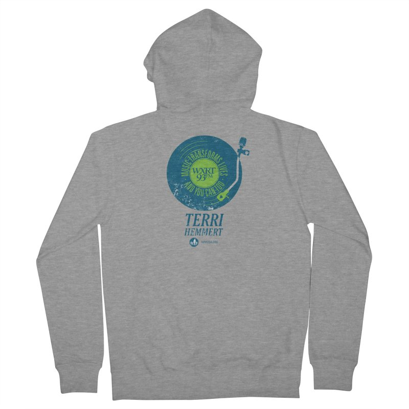 Music Transforms Lives Women's French Terry Zip-Up Hoody by 93XRT