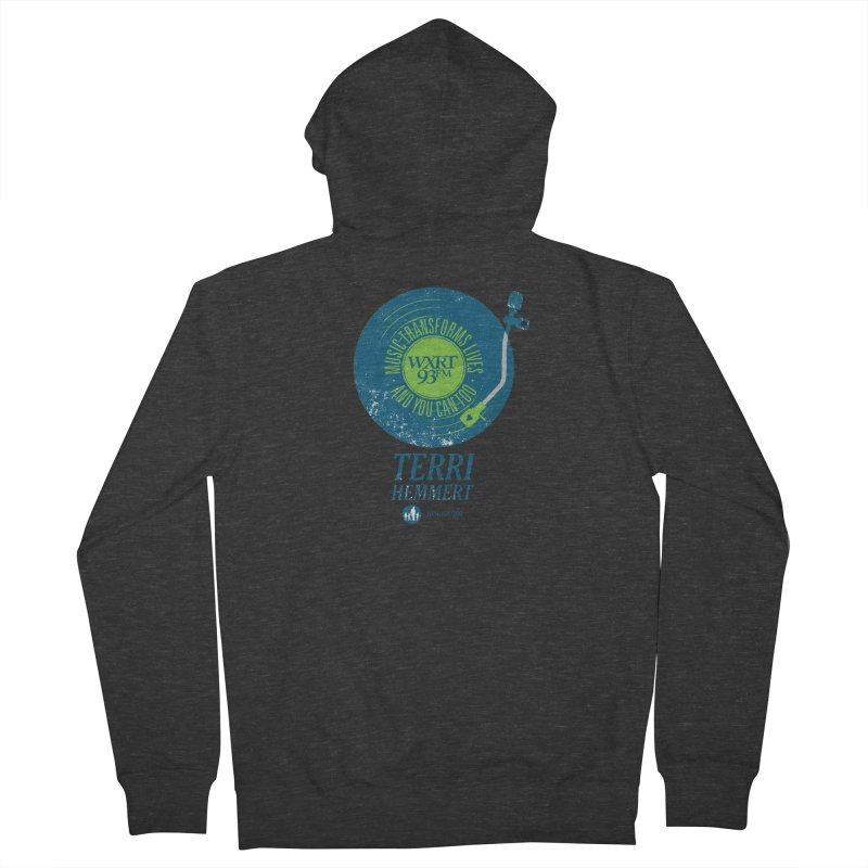 Music Transforms Lives Men's French Terry Zip-Up Hoody by 93XRT