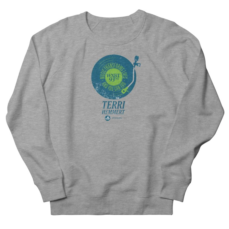 Music Transforms Lives Women's French Terry Sweatshirt by 93XRT