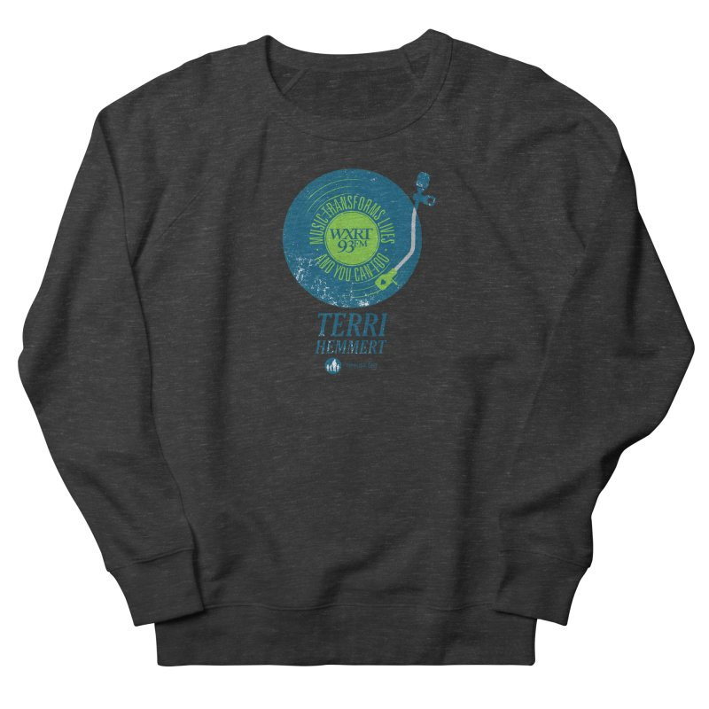 Music Transforms Lives Men's French Terry Sweatshirt by 93XRT