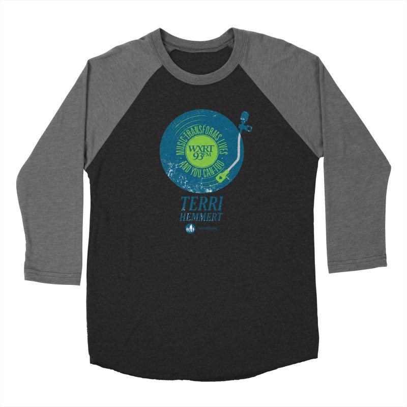 Music Transforms Lives Women's Baseball Triblend Longsleeve T-Shirt by WXRT's Artist Shop