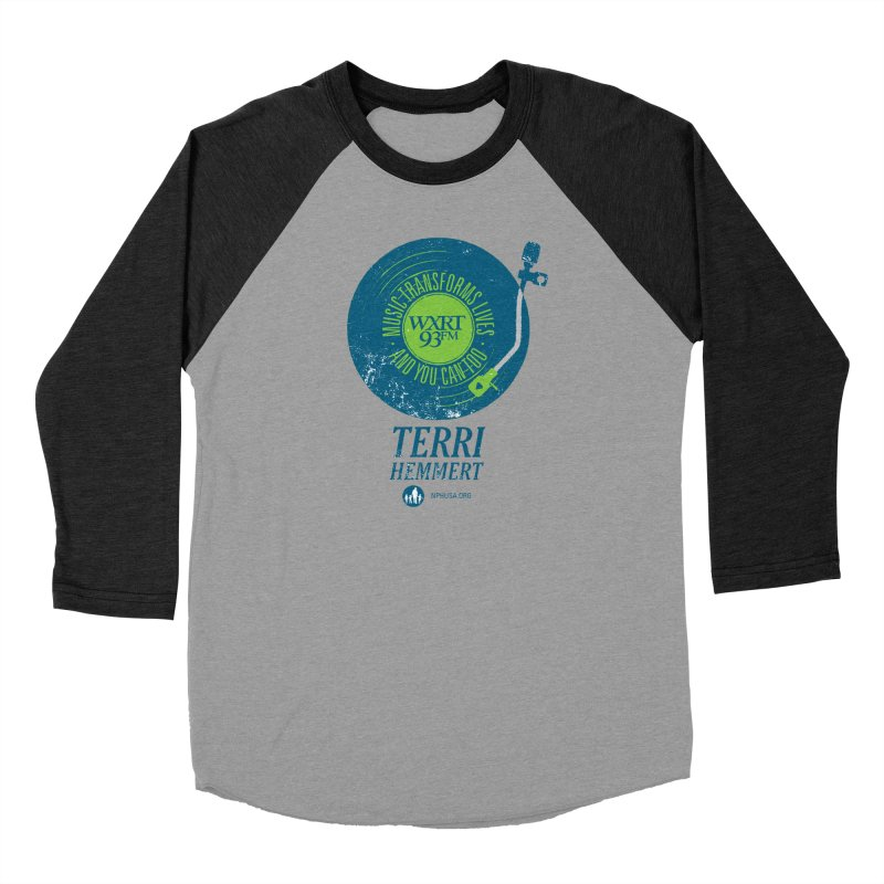 Music Transforms Lives Men's Baseball Triblend Longsleeve T-Shirt by WXRT's Artist Shop