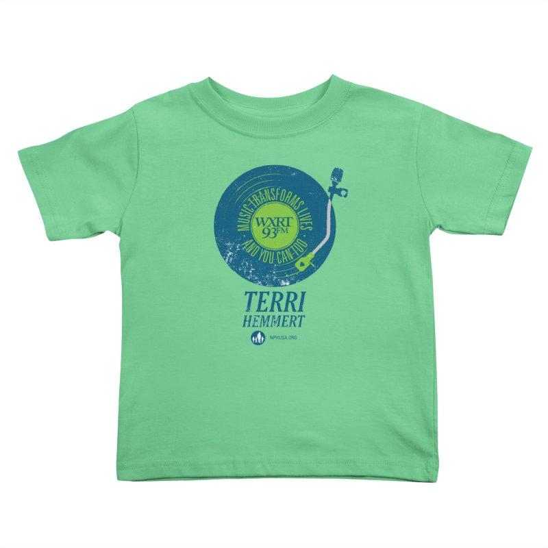 Music Transforms Lives Kids Toddler T-Shirt by WXRT's Artist Shop