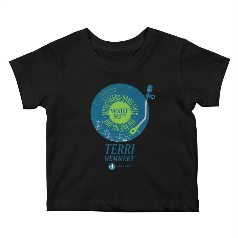 Music Transforms Lives Kids Baby T-Shirt by WXRT's Artist Shop