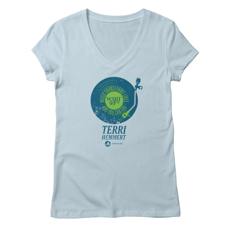 Music Transforms Lives Women's V-Neck by 93XRT