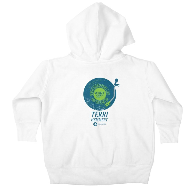 Music Transforms Lives Kids Baby Zip-Up Hoody by 93XRT