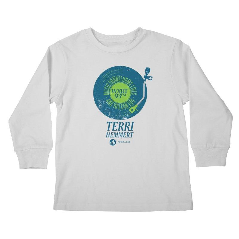 Music Transforms Lives Kids Longsleeve T-Shirt by 93XRT