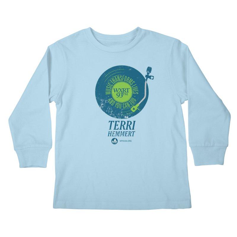 Music Transforms Lives Kids Longsleeve T-Shirt by WXRT's Artist Shop