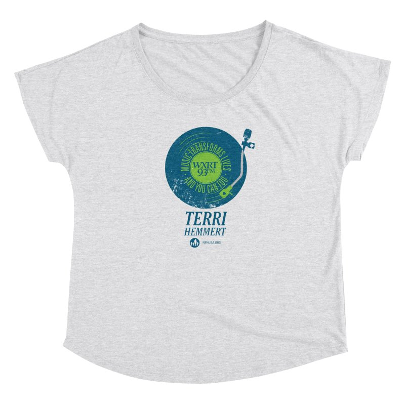 Music Transforms Lives Women's Scoop Neck by 93XRT