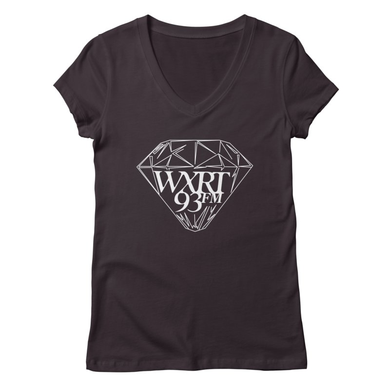 XRT Classic Diamond Tee Women's V-Neck by WXRT's Artist Shop