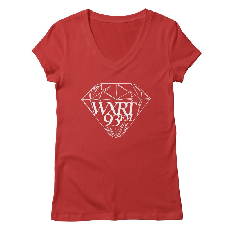 XRT Classic Diamond Tee Women's V-Neck by WXRT's Artist Shop