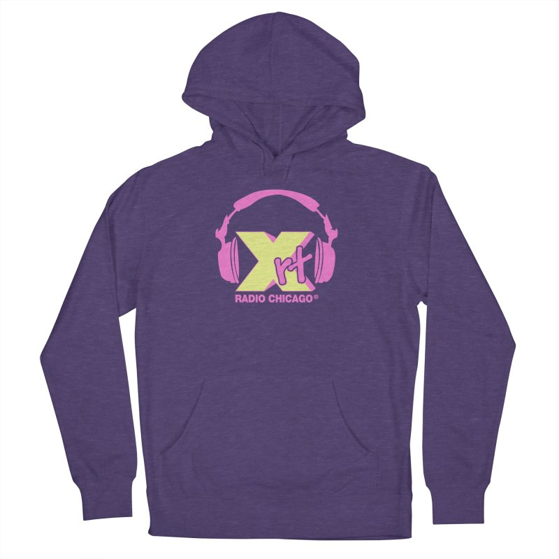 XRT 80s Headphone Men's French Terry Pullover Hoody by WXRT's Artist Shop