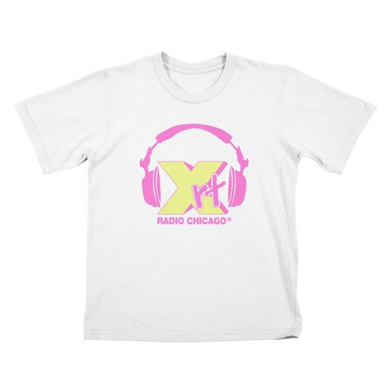 XRT 80s Headphone Kids T-Shirt by WXRT's Artist Shop