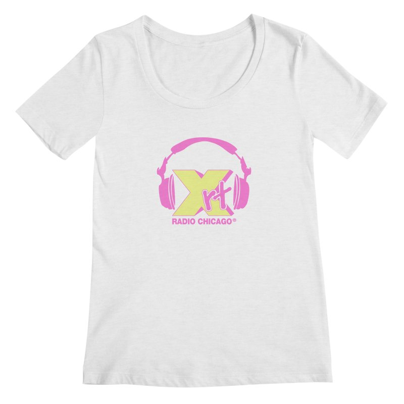 XRT 80s Headphone Women's Regular Scoop Neck by 93XRT