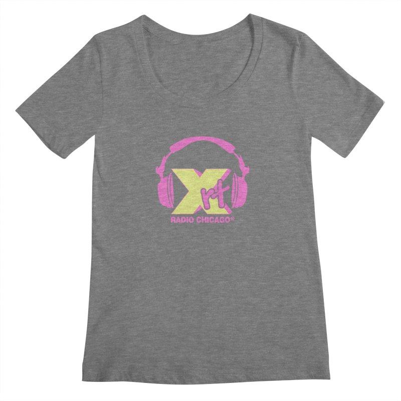 XRT 80s Headphone Women's Scoopneck by WXRT's Artist Shop