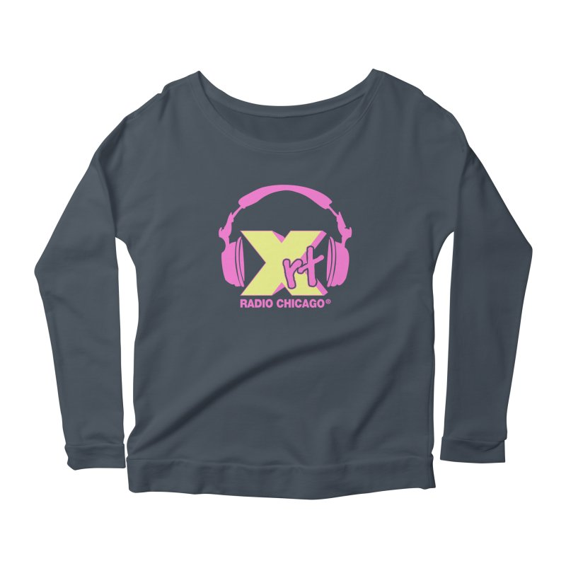 XRT 80s Headphone Women's Scoop Neck Longsleeve T-Shirt by 93XRT