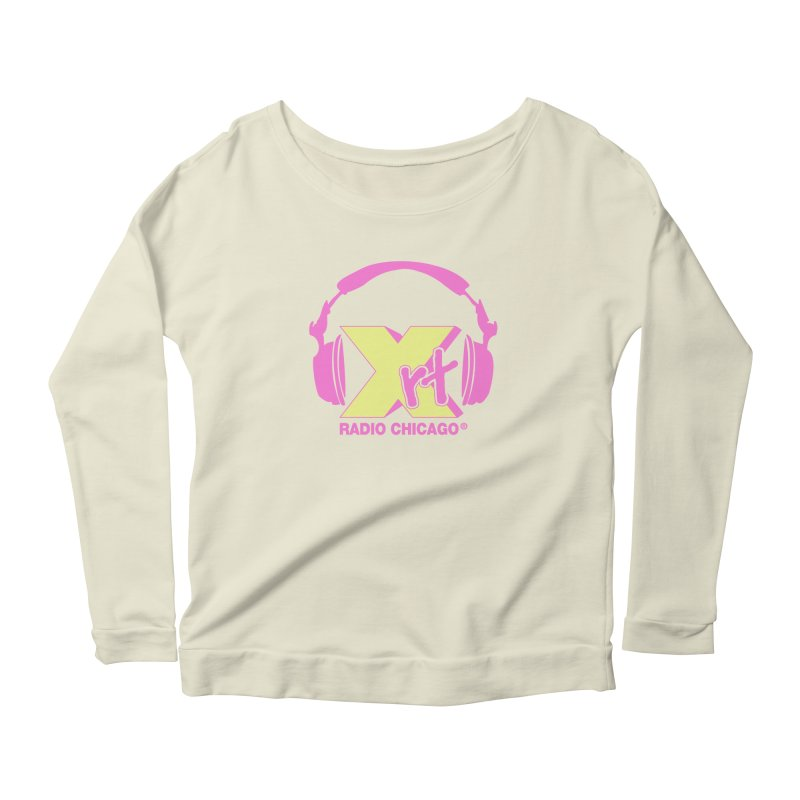 XRT 80s Headphone Women's Longsleeve Scoopneck  by WXRT's Artist Shop