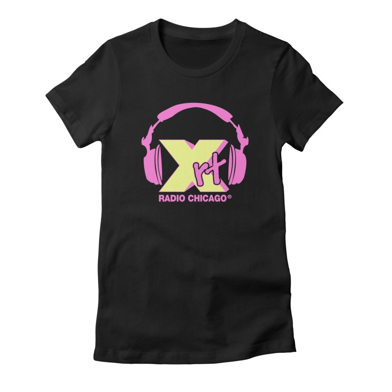 XRT 80s Headphone Women's Fitted T-Shirt by 93XRT