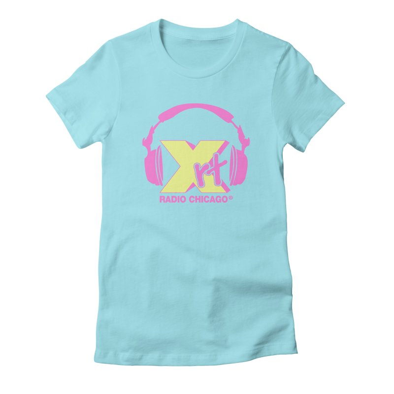 XRT 80s Headphone Women's Fitted T-Shirt by WXRT's Artist Shop