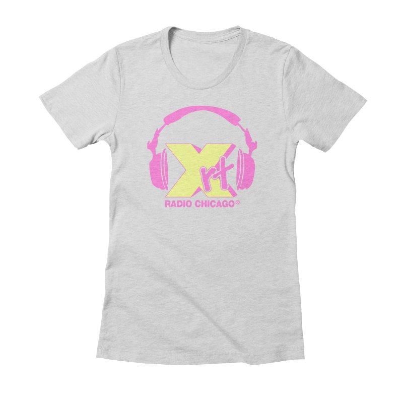 XRT 80s Headphone Women's Fitted T-Shirt by WXRT's Artist Shop