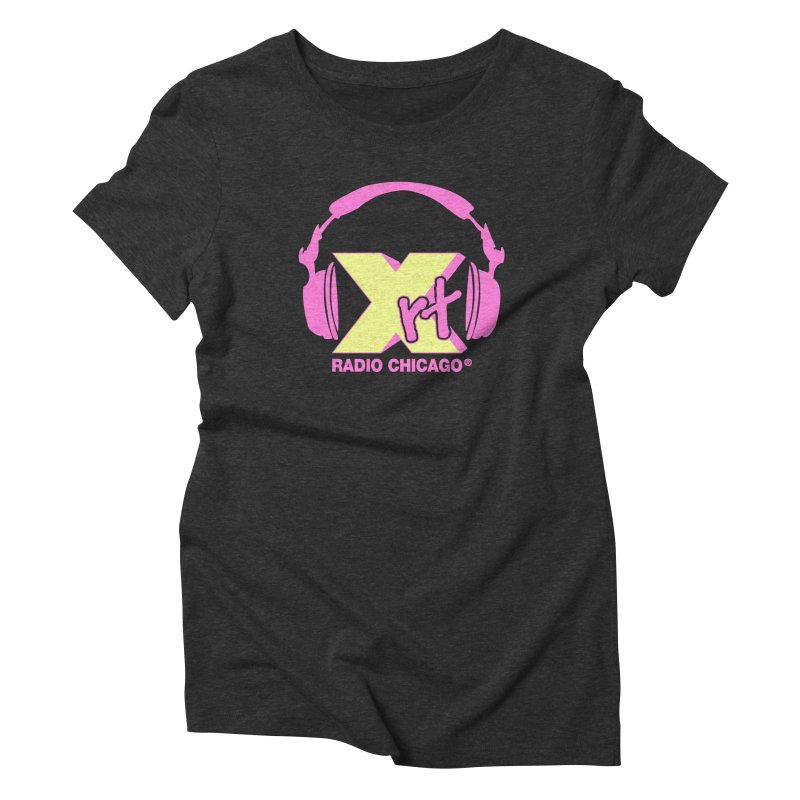 XRT 80s Headphone Women's Triblend T-Shirt by 93XRT
