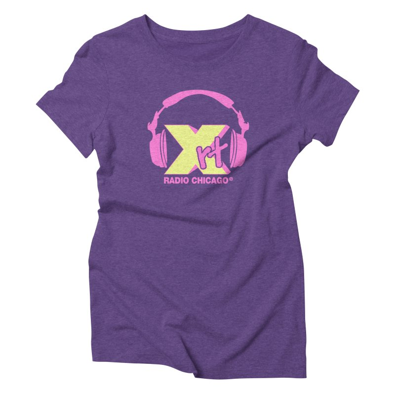 XRT 80s Headphone Women's Triblend T-Shirt by WXRT's Artist Shop