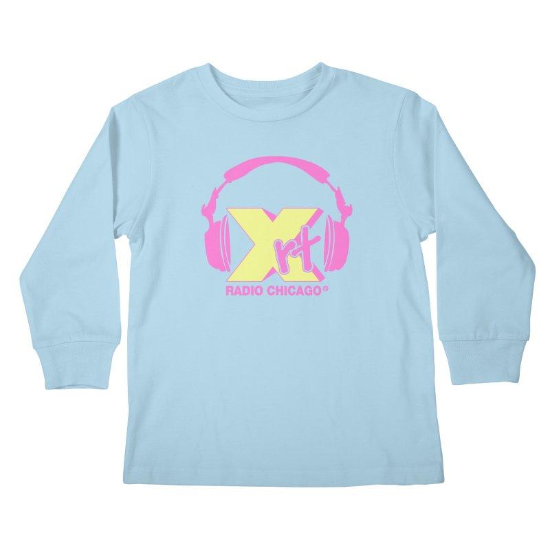XRT 80s Headphone Kids Longsleeve T-Shirt by 93XRT