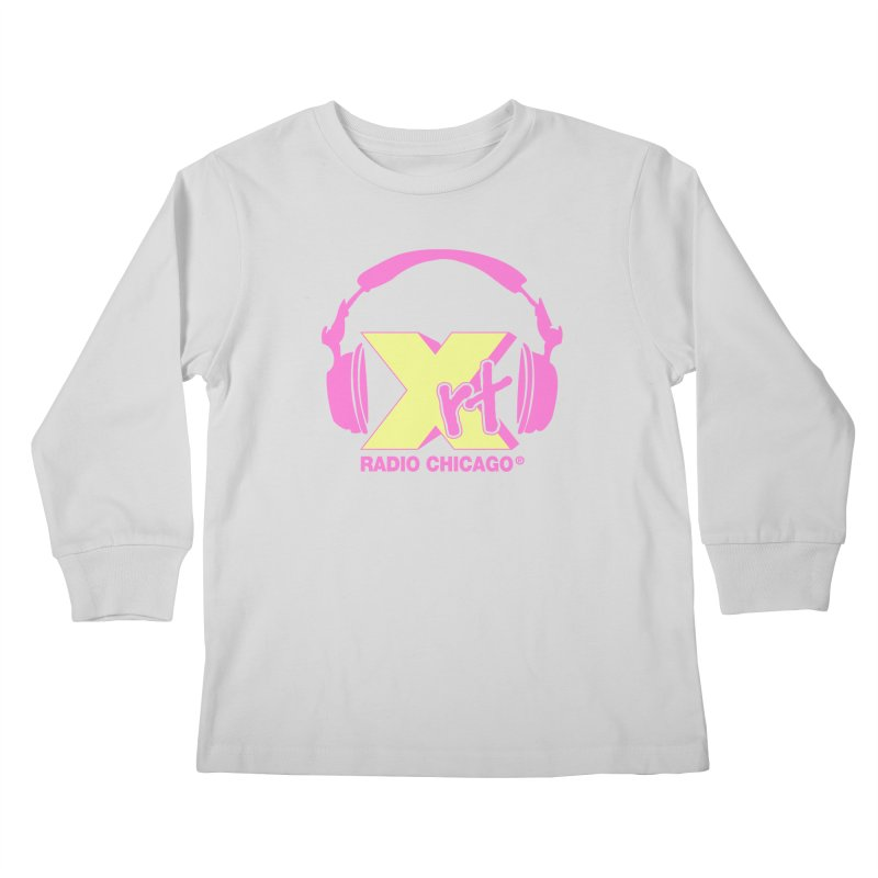 XRT 80s Headphone Kids Longsleeve T-Shirt by 93XRT