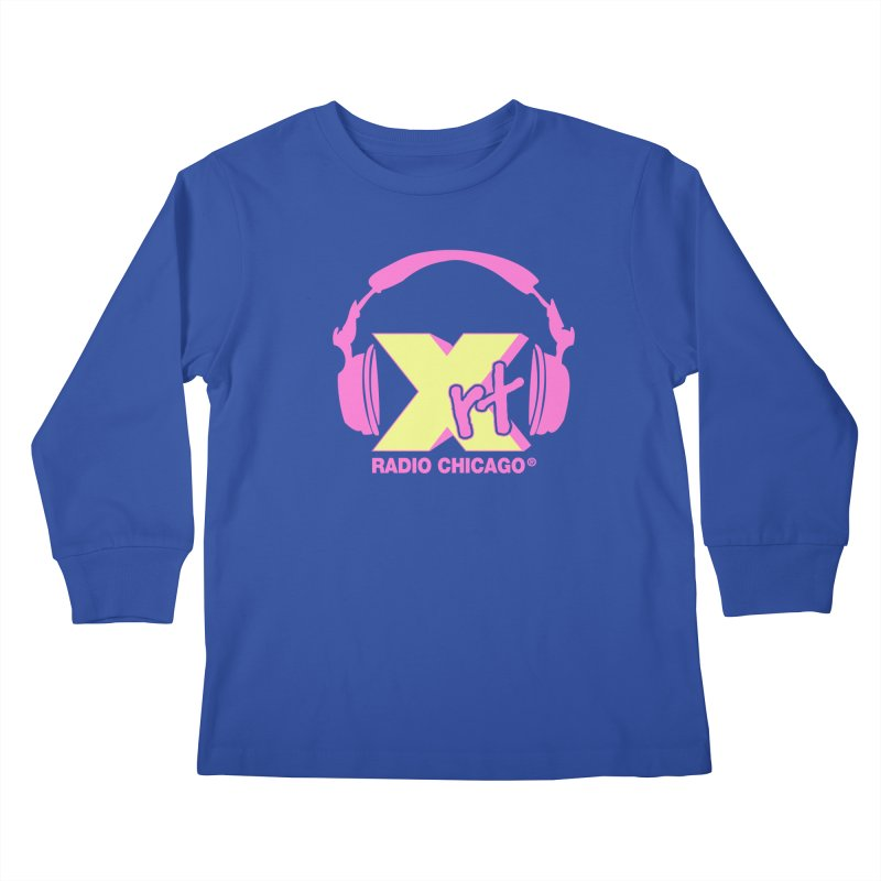 XRT 80s Headphone Kids Longsleeve T-Shirt by WXRT's Artist Shop