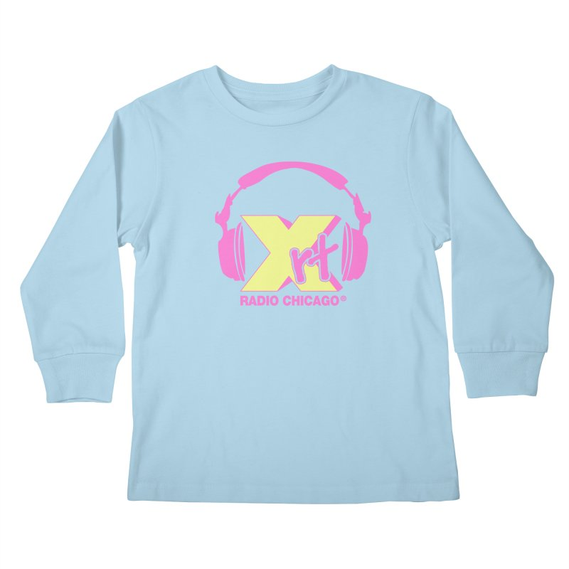 XRT 80s Headphone Kids Longsleeve T-Shirt by WXRT's Artist Shop