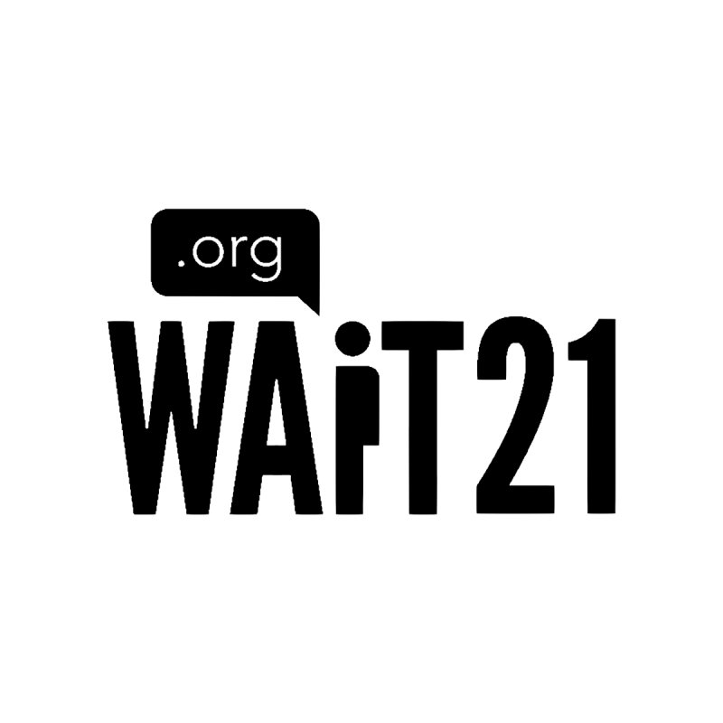 Wait 21 Black Logo by Wait21's Artist Shop