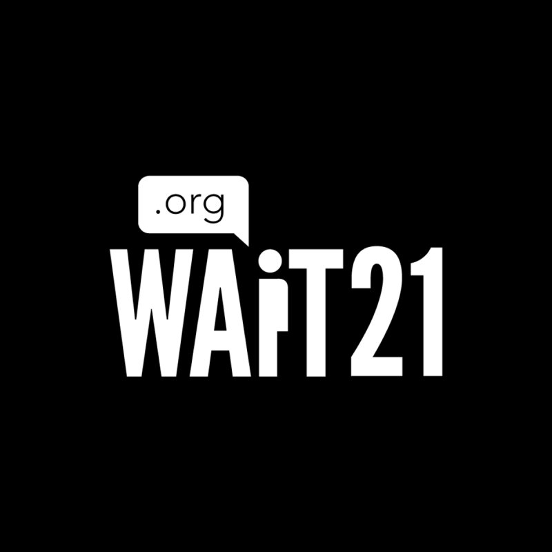 Wait 21 White Logo by Wait21's Artist Shop