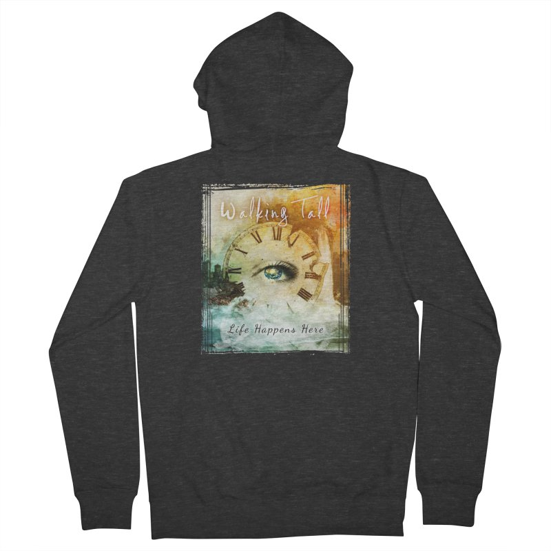 Walking Tall-Life Happens Here-black Women's French Terry Zip-Up Hoody by Walking Tall - Band Merch Shop