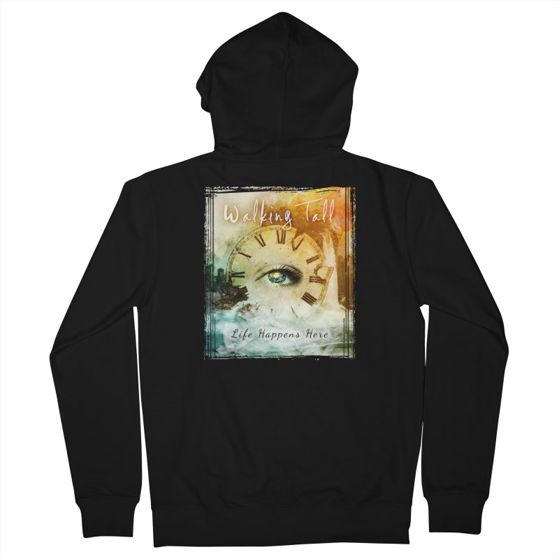 Walking Tall-Life Happens Here-black Men's French Terry Zip-Up Hoody by Walking Tall - Band Merch Shop