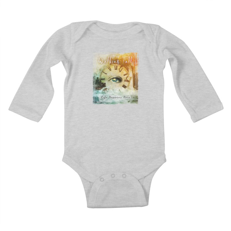 Walking Tall-Life Happens Here-black Kids Baby Longsleeve Bodysuit by Walking Tall - Band Merch Shop