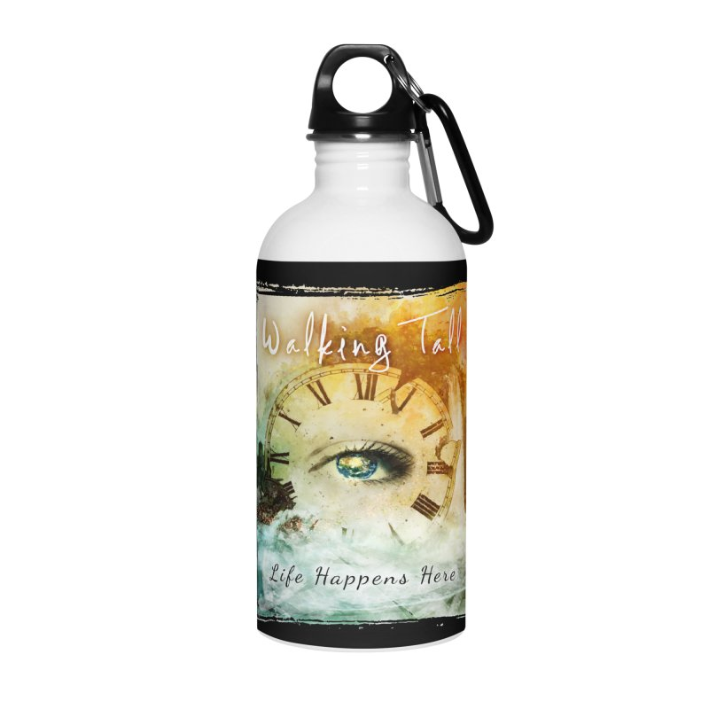 Walking Tall-Life Happens Here-black Accessories Water Bottle by Walking Tall - Band Merch Shop
