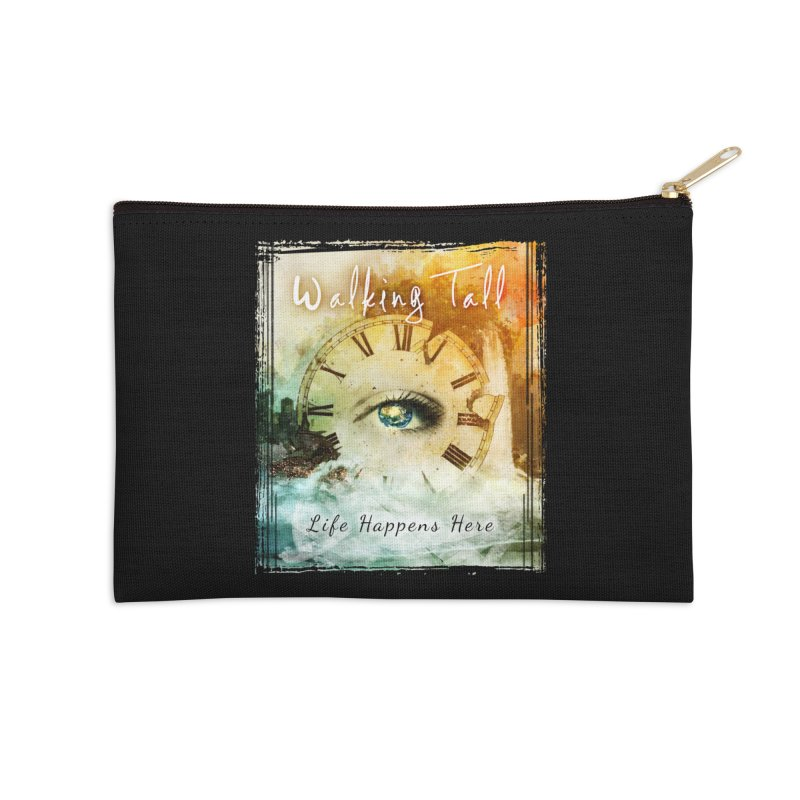 Walking Tall-Life Happens Here-black Accessories Zip Pouch by Walking Tall - Band Merch Shop