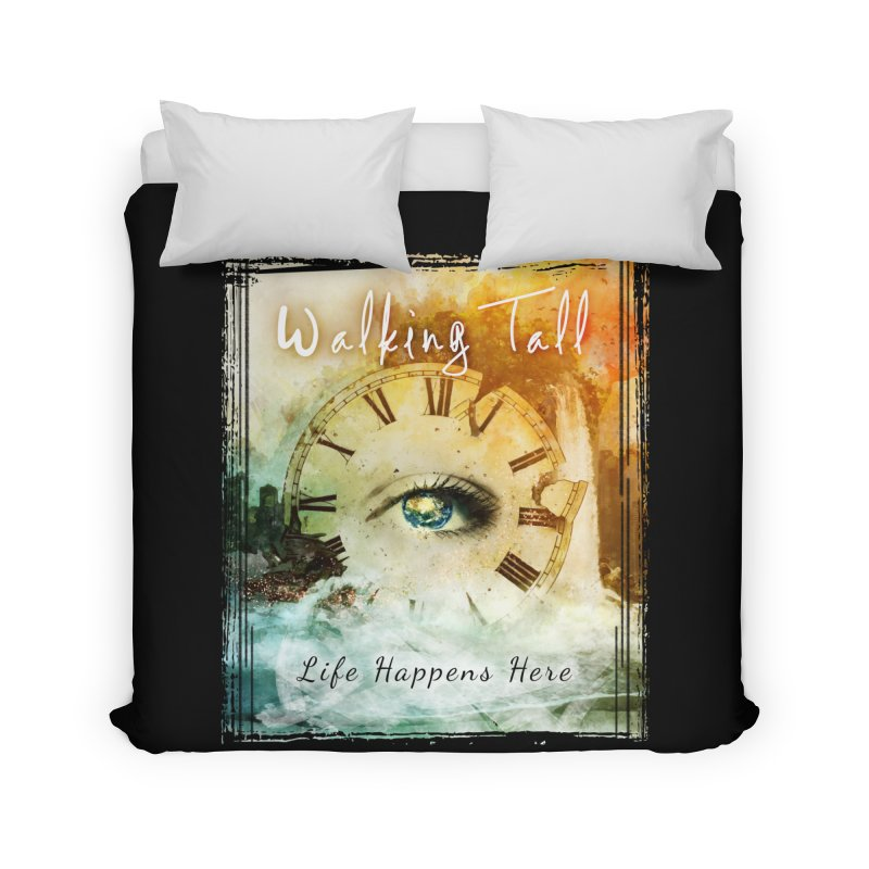 Walking Tall-Life Happens Here-black Home Duvet by Walking Tall - Band Merch Shop