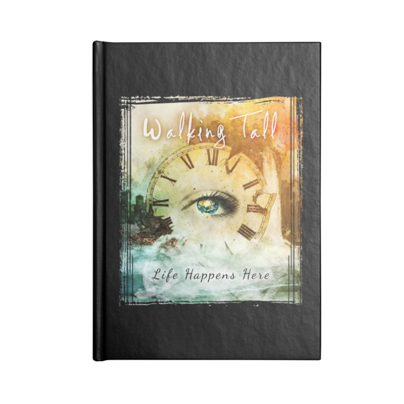 Walking Tall-Life Happens Here-black Accessories Notebook by Walking Tall - Band Merch Shop