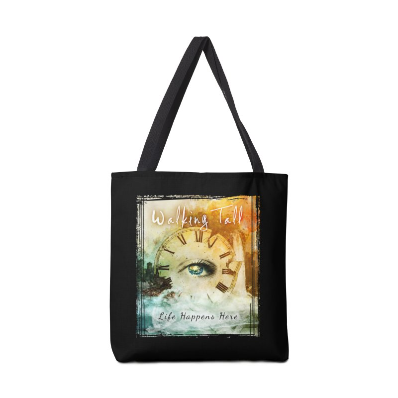 Walking Tall-Life Happens Here-black Accessories Tote Bag Bag by Walking Tall - Band Merch Shop