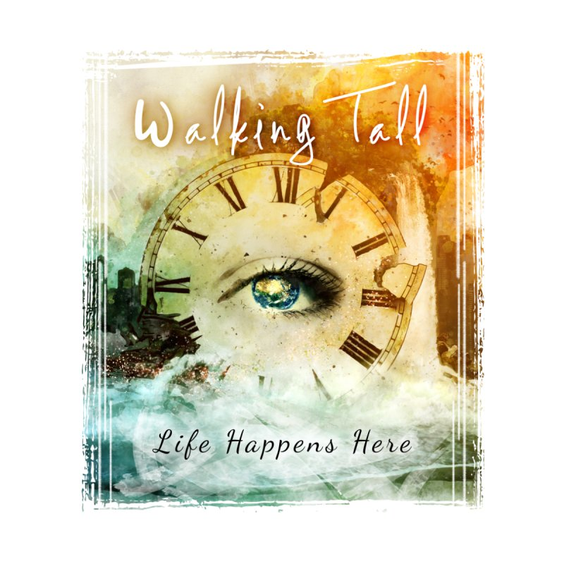 Walking Tall-Life Happens Here-White Home Bath Mat by Walking Tall - Band Merch Shop