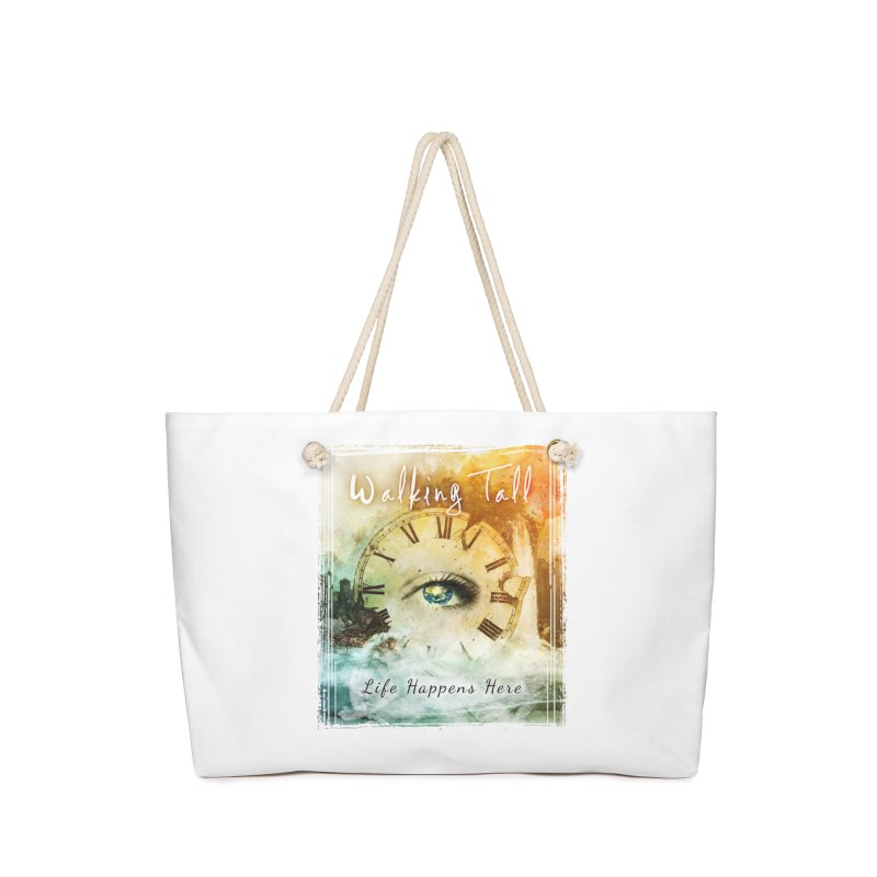 Walking Tall-Life Happens Here-White Accessories Bag by Walking Tall - Band Merch Shop