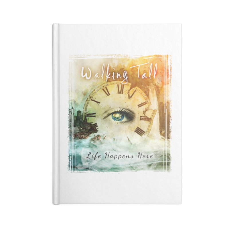 Walking Tall-Life Happens Here-White Accessories Lined Journal Notebook by Walking Tall - Band Merch Shop