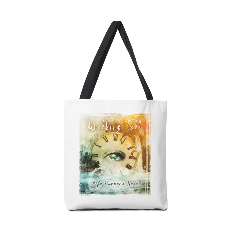 Walking Tall-Life Happens Here-White Accessories Tote Bag Bag by Walking Tall - Band Merch Shop
