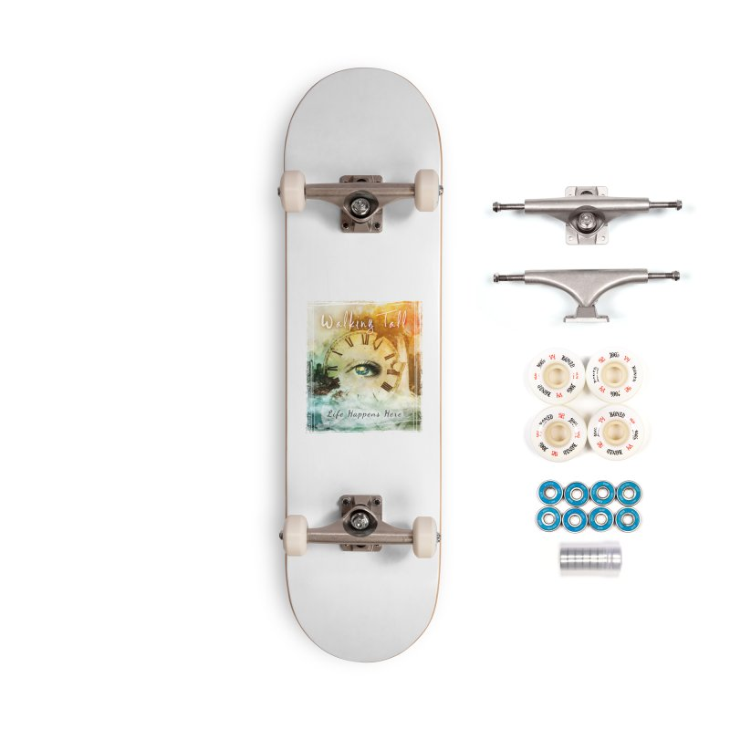 Walking Tall-Life Happens Here-White Accessories Complete - Premium Skateboard by Walking Tall - Band Merch Shop