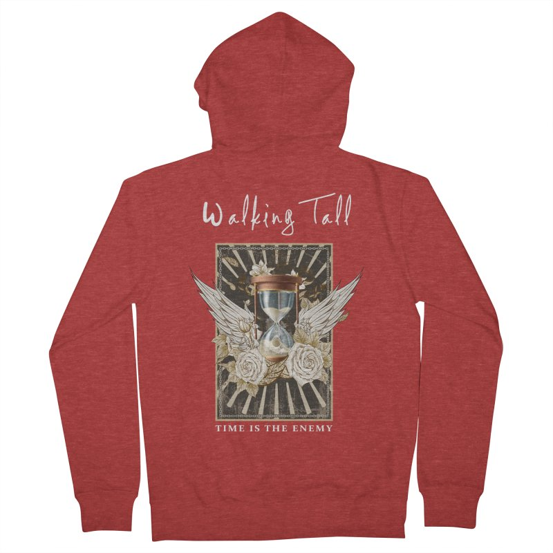 Ladies RosesnWings Walking Tall T - Shirt Women's French Terry Zip-Up Hoody by Walking Tall - Band Merch Shop