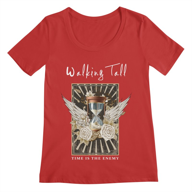Ladies RosesnWings Walking Tall T - Shirt Women's Regular Scoop Neck by Walking Tall - Band Merch Shop