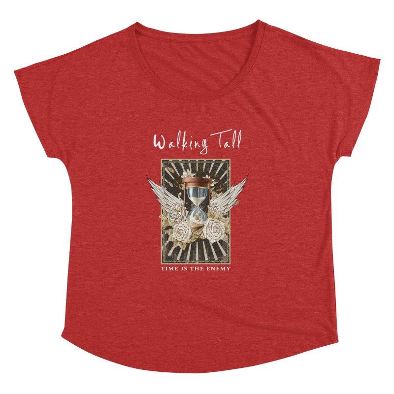Ladies RosesnWings Walking Tall T - Shirt Women's Dolman Scoop Neck by Walking Tall - Band Merch Shop