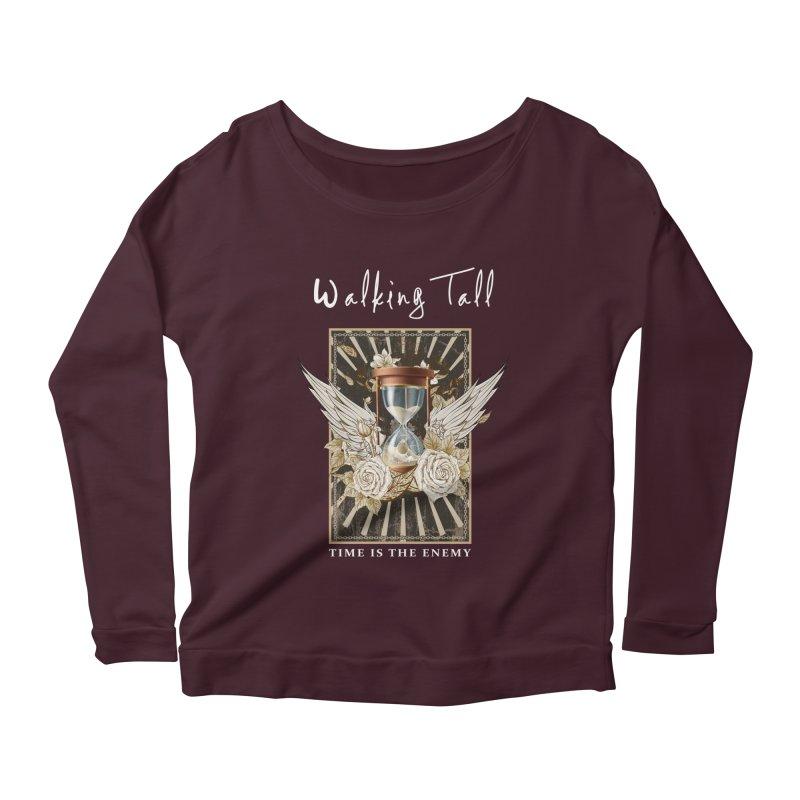 Ladies RosesnWings Walking Tall T - Shirt Women's Scoop Neck Longsleeve T-Shirt by Walking Tall - Band Merch Shop