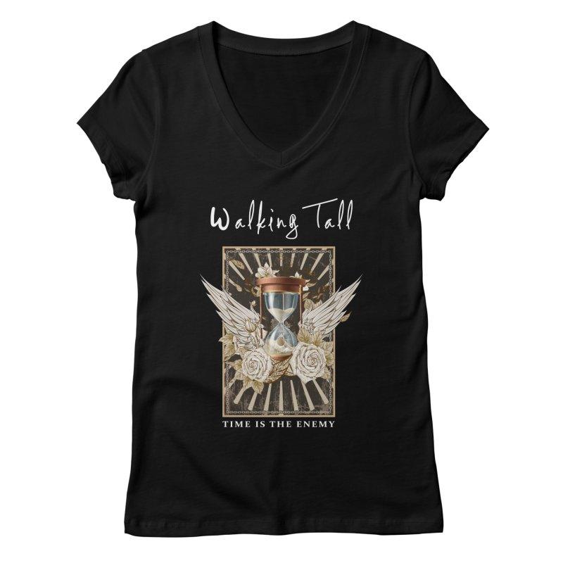 Ladies RosesnWings Walking Tall T - Shirt Women's Regular V-Neck by Walking Tall - Band Merch Shop